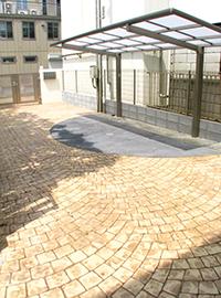 駐輪場デザインクリート