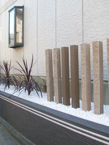 After:メンテナンスコスト削減!外観植栽を植替え、砂岩石でデザイン性もUP!