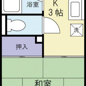 Before:築25年1Kアパート「6帖/和室⇒洋室」