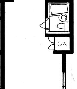 Before:築21年マンション「1R⇒1DK」「3点ユニット⇒独立洗面台・浴室・トイレ」